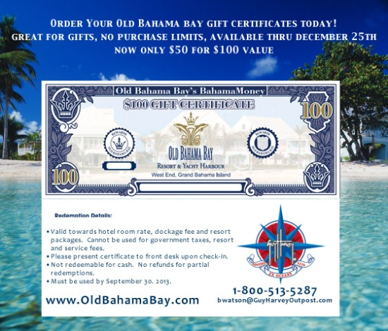 Get Your Bahamas Bucks!