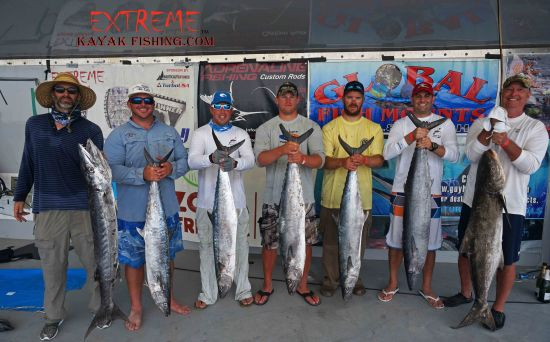 Top Five Winners.  Photo Courtesy of Extreme Kayak Fishing Tournaments