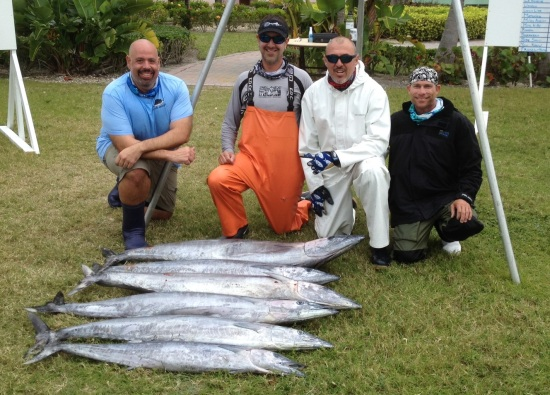 Winners: Team Fishin A' Loan with their day two (2) catch.