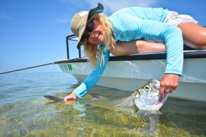 Sue Cocking with Tarpon